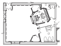 Fraser Studios Floorplan - click to enlarge